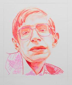 'Hawking',marker,11''x14''.