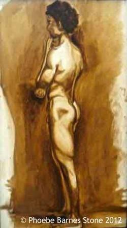FlorenceNude,oiloncanvas,16''x7''.