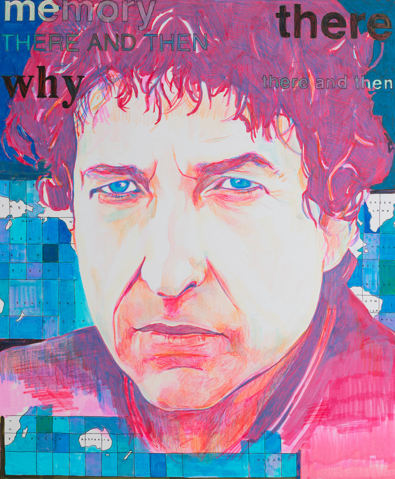 Bob Dylan with mapped words