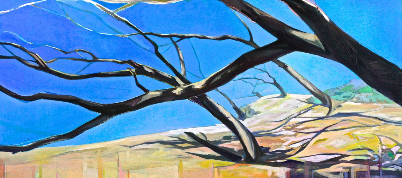 'Bare Limbs',oilonboard;24x48.