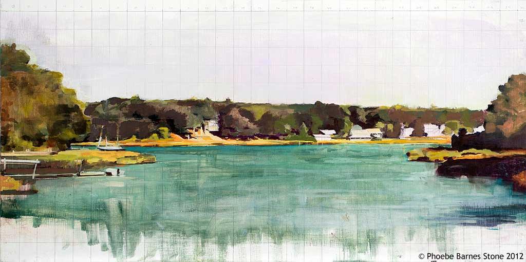 'Jonescape'oilonboard,12''x24''.