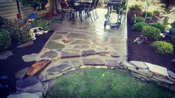 Flagstone patio, re- structure, and re-