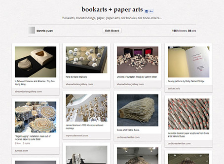 Pinterest bookarts and paper arts board
