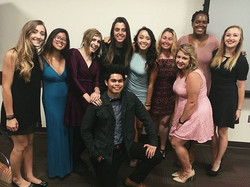✨Here is our NSMH 2016-2017 Board members at the LMSA's Payne Awards! #sandiegostate #sandiego #plan