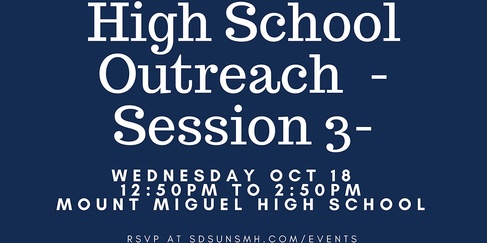 High School Outreach Session 3