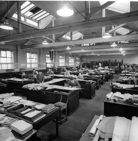 Barry Melvin Godfrey Thompson at The Plantworks Drawing Office in Doncaster circa 1972