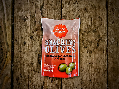 Senor Alberto - Stuffed Pitted Green Snacking Olives