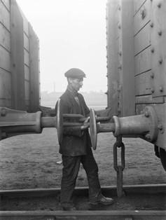 Worker at Doncaster works, 1930