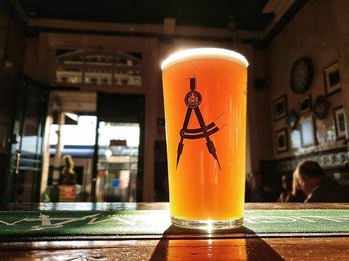 The Draughtsman Alehouse Brand Half-Pint Glass