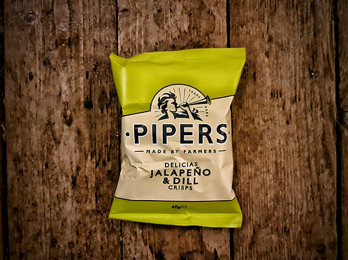 Pipers Delicias Jalapeño & Dill Crisps 40g
