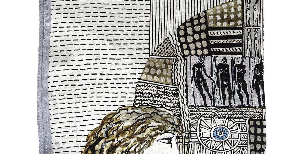 Apaszka Jedwabna No.6 - Złożona - Magdalena Kucharska - MOYA Biżuteria
