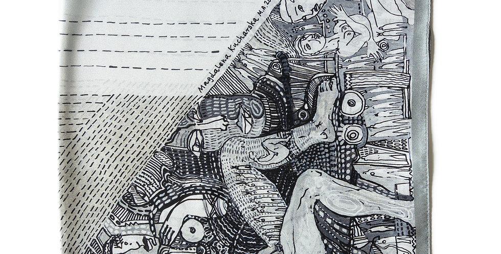Apaszka Jedwabna No.2 - Złożona - Magdalena Kucharska - MOYA Biżuteria