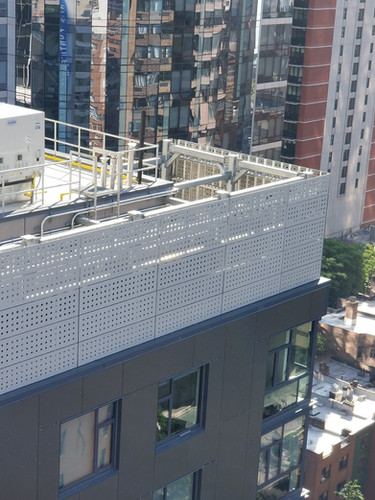 Fiber Cement Rainscreen & Perforated Mechanical Screen