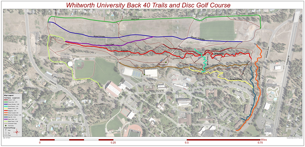 Whitworth University Back 40 Trails