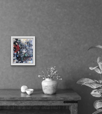 'Butterfly effect' - cream frame