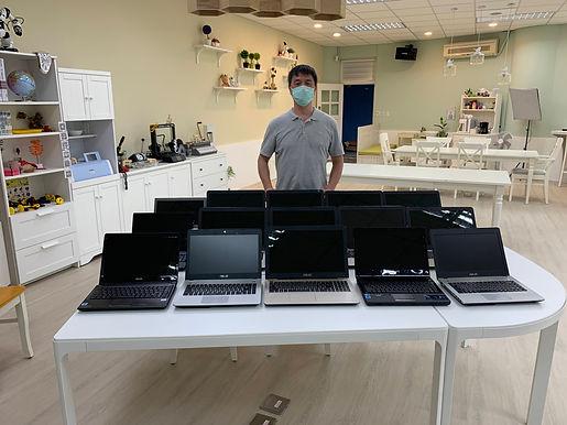 華碩捐百台再生電腦 防疫學習不停息