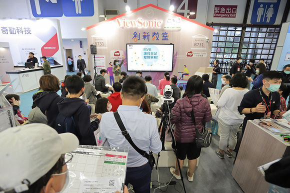人氣爆棚 ViewSonic在臺灣教育科技展Show實力