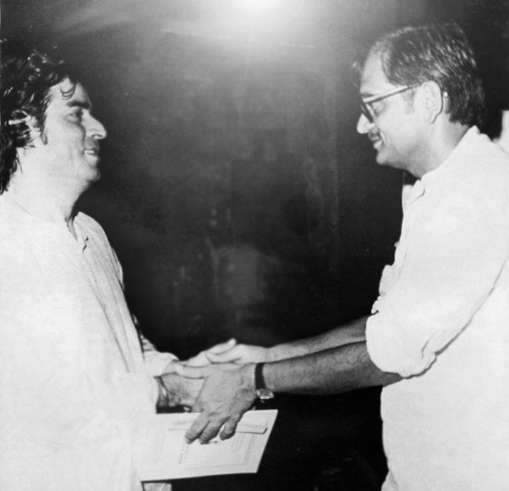 With Gulzaar at a function