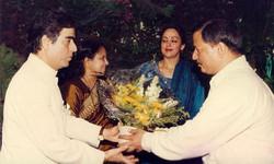 With Hema Malini and Sandhya Rao at MEER