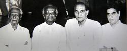 With Kedar Sharma, Naushad Saheb and B.j