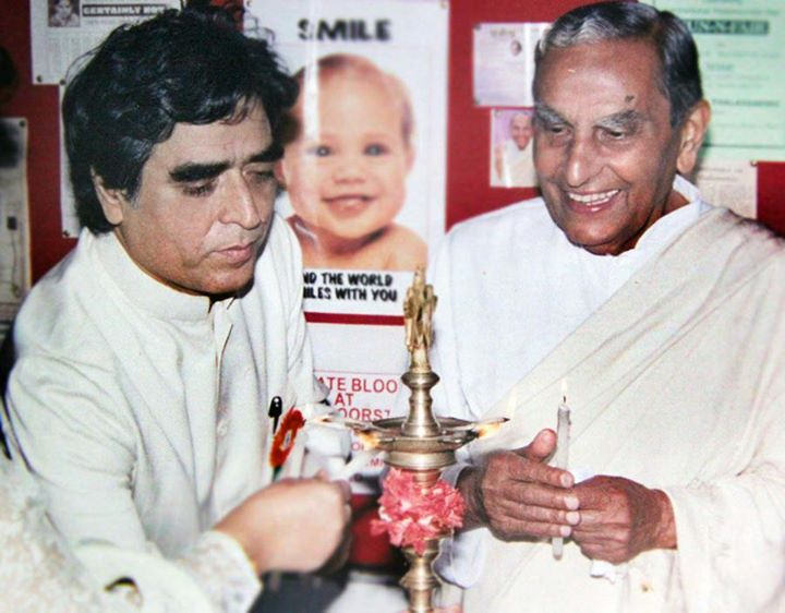 With Dada J.jpg P.jpg Vaswani at inaugur