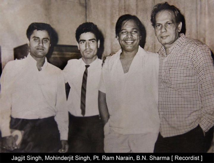 With Jagjit Singh, Pt.jpg Ram Narain, Re
