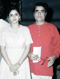 With Mrinal Kulkarni at Meera Album rele