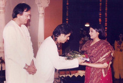 With Dutt Saheb and Indraini [ Dancer ]
