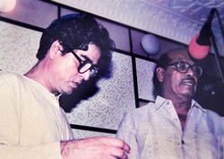With Manna Dey at recording of TV SERIAL
