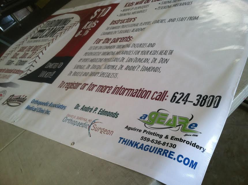 Kaweah Delta Throwing Camp Banner