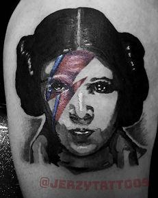 Bowie mashup Pop art style Leia