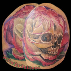 Double Delight Skull Rose