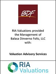 Wealth Management Valuation, BDF