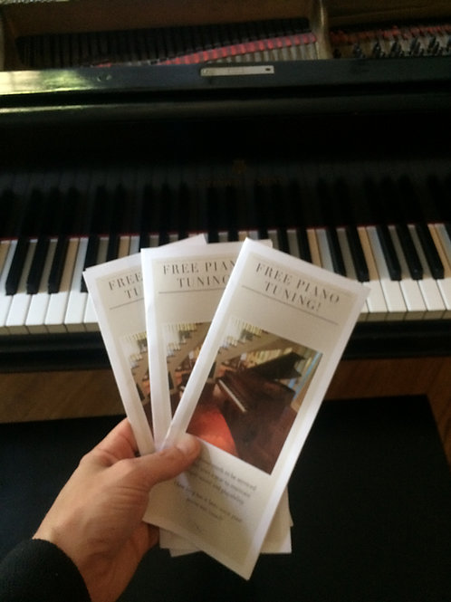 Gift Certificates for Piano Tuning and Repairs
