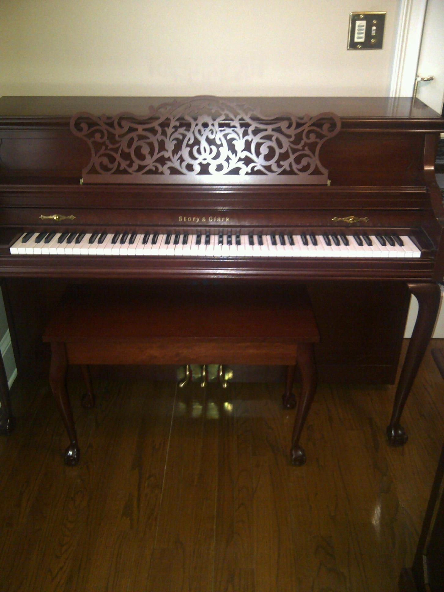 Story & Clark Piano for sale front full