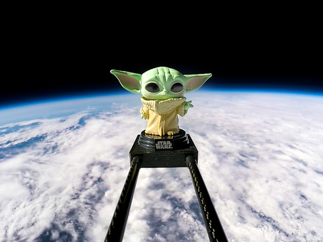 Baby Yoda in Space | We launched The Child from The Mandalorian into space