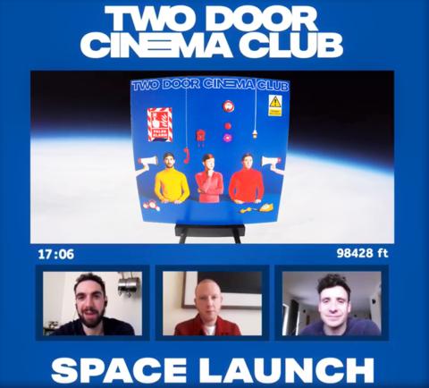 two door cinema club album drop space launch live stream