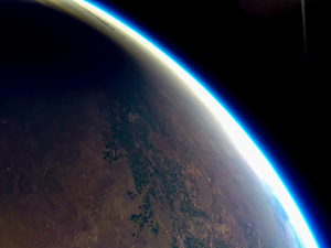 Solar eclipse from a weather balloon