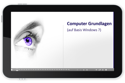 ECDL Modul 01 - Computer Grundlagen (Basis Windows 7) (Onlinekurs)