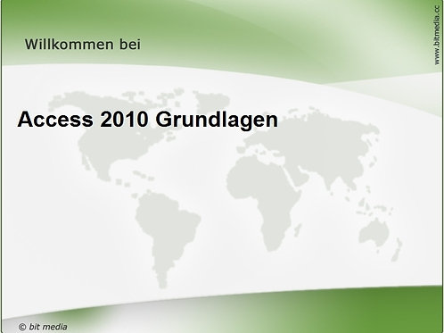 Access 2010 Grundlagen (Onlinekurs)
