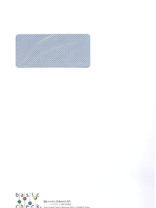 Couvert C4 mit Logo und Fenster