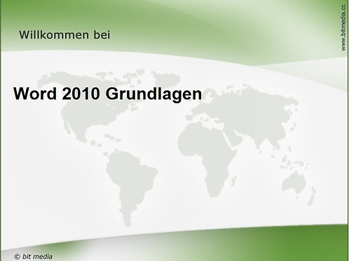 Word 2010 Grundlagen (Onlinekurs)