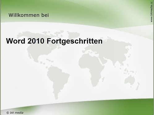 Word 2010 Fortgeschritten (Onlinekurs)