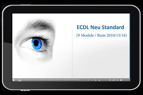 ECDL Paket für Schulen - Standard (9 Module / Basis 2013/16) (Onlinekurs)