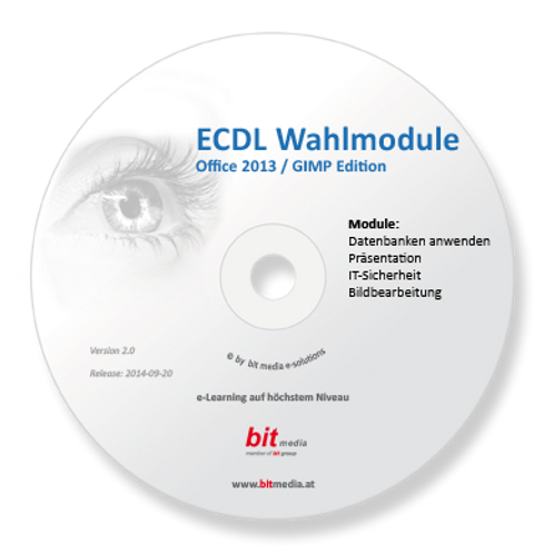 ECDL - Neu Wahlmodule (5 Module auf Basis Office 2013) (CD/DVD)