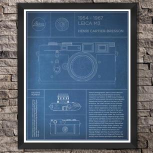 "Leica M3: Henri Cartier-Bresson. ""Blue"" Print"
