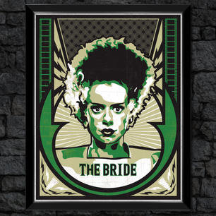 "Frankenstein ""The Bride"": Classic Universal Monsters Print"
