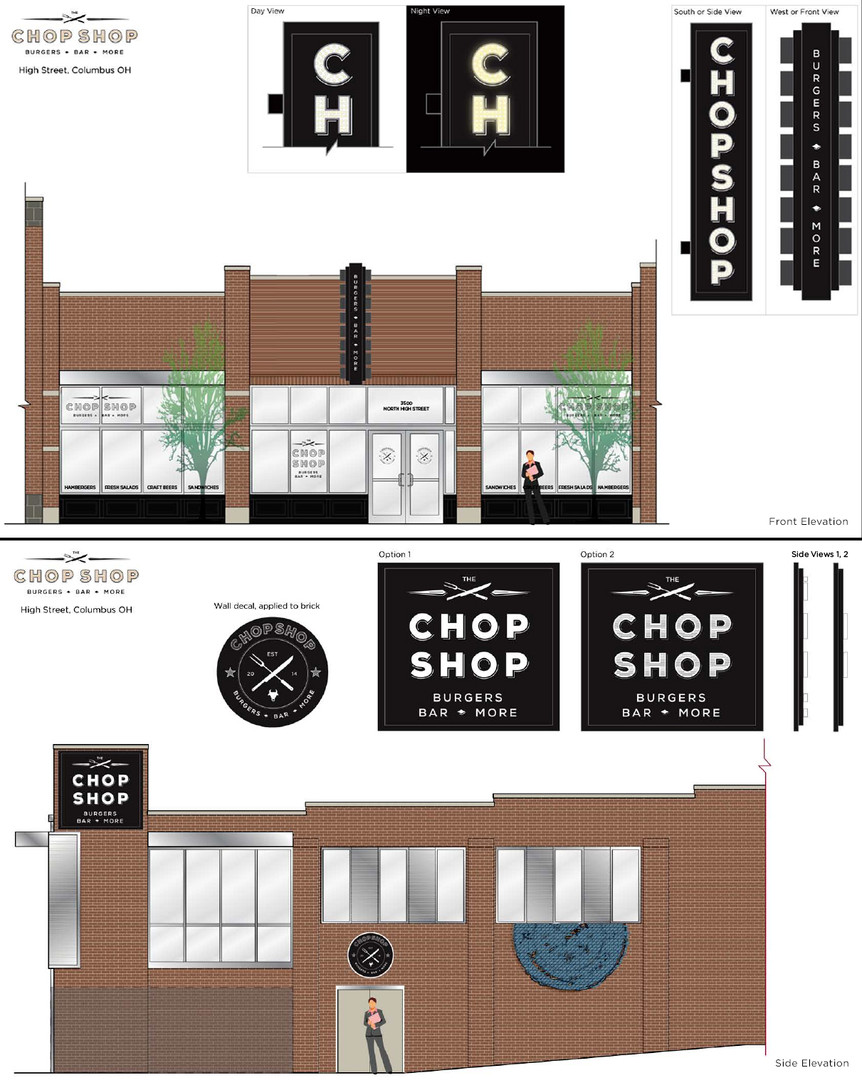 The Chop Shop Sign Elevations