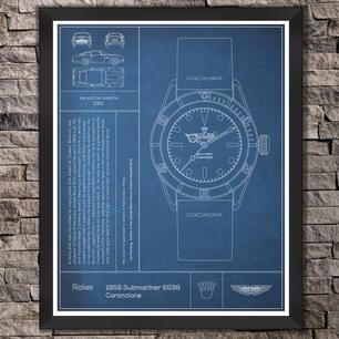 """Rolex: The Submariner Watch. """"Blue"""" Print"""