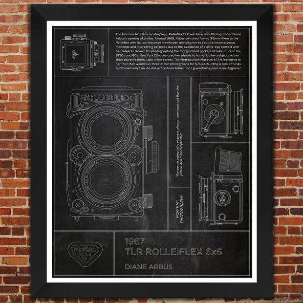 "Rolleiflex 6x6: Diane Arbus. ""Slate"" Print"